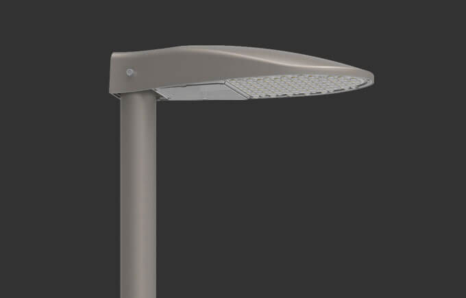Slim LED street light