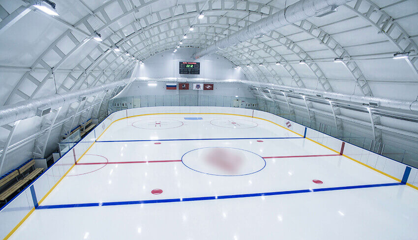 LED High Bay Light Brighten Professional Ice Sports Arena In Russia