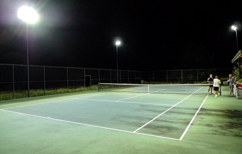 Led High Mast Lights In Tennis Court
