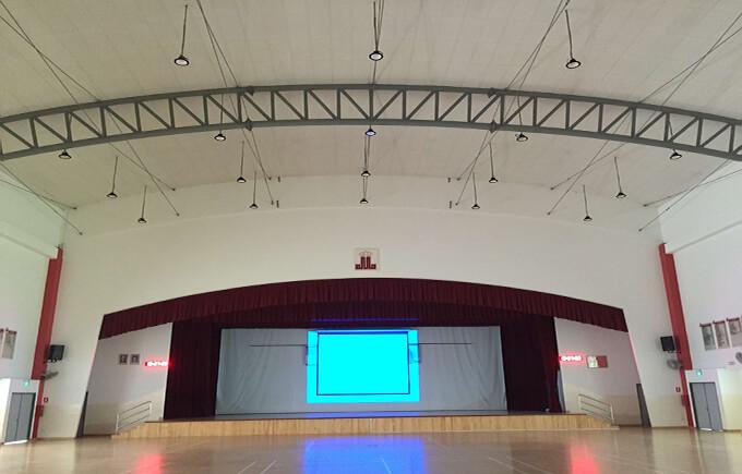 School Auditorium, Singapore  LED High Bay Light