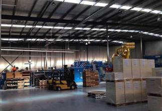 LED  High Bay Lights in Workshop,Mexico Manufactured by Yaham Lighting