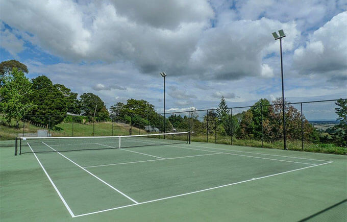 LED  High Mast Lights in Tennis Court, Australia Manufactured by Yaham Lighting