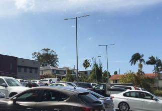 LED Street Lights in Parking Lot, Australia Manufactered by Yaham Lighting