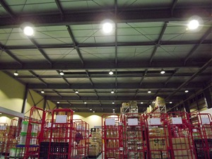 Compact Mg LED High Bay Light Application for Warehouses