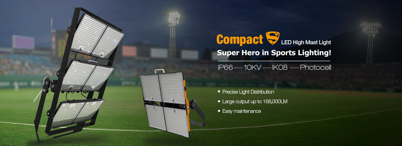 Compact S LED high mast light