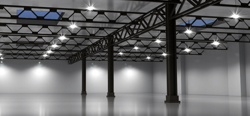 choose led high bay lights in industrial lighting rooms