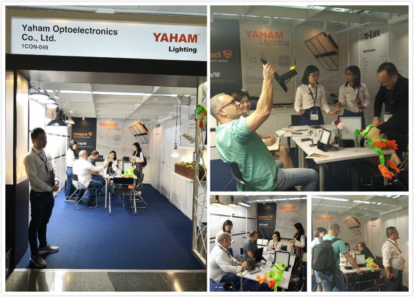 Yaham Lighting team and booths