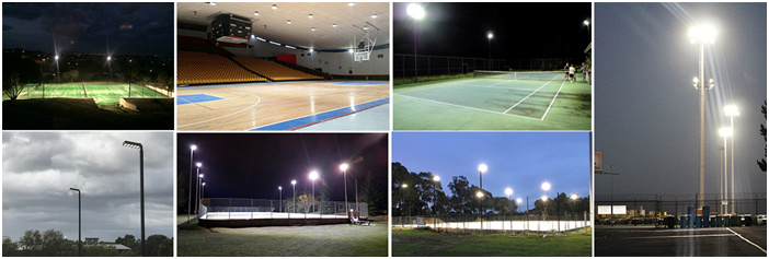 sports courts lighting solutions
