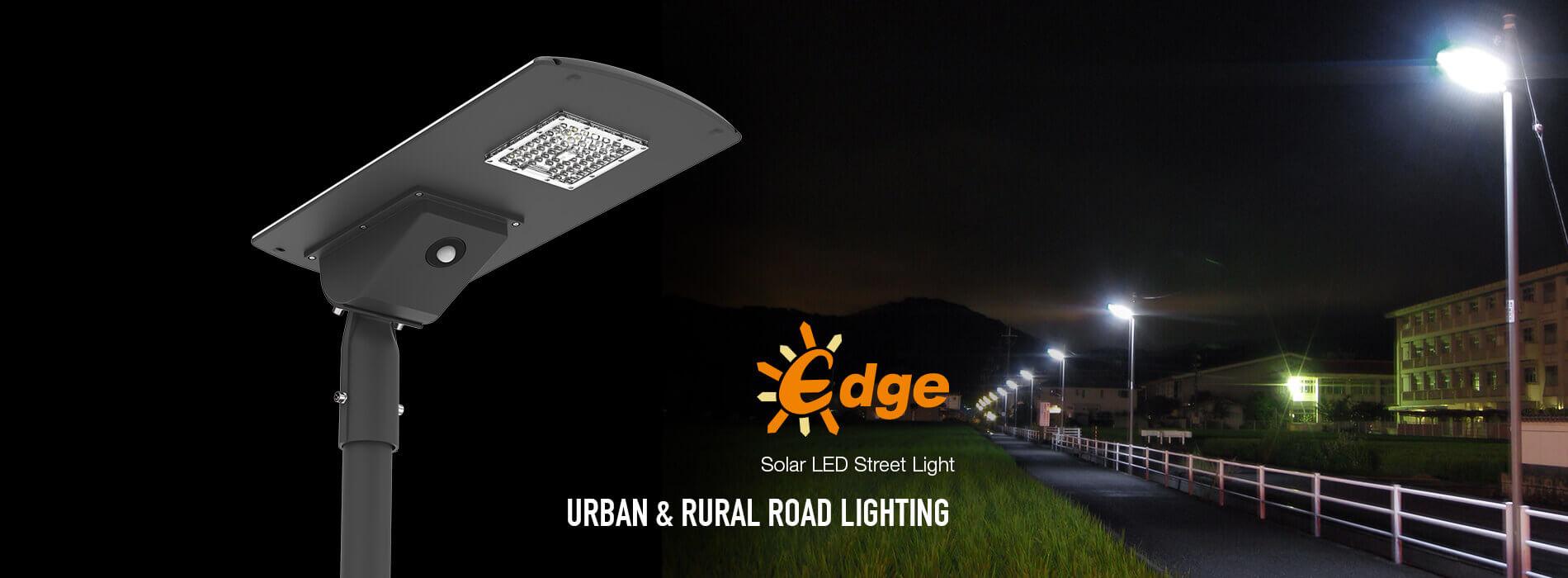Edge solar street light