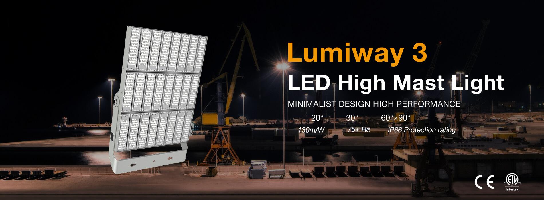 Lumiway 3 LED high mast light