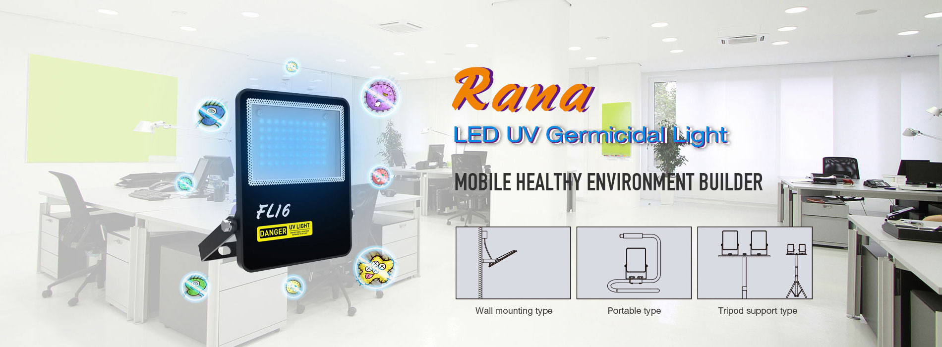Rana LED UV Germicidal Light